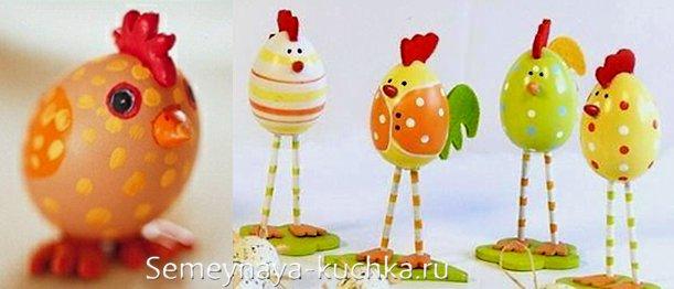 поделки для детей из яичной скорлупы