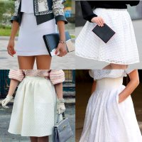 как носить белую юбку