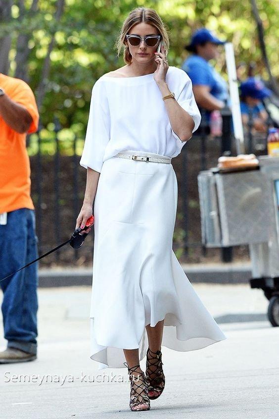 модные белые юбки