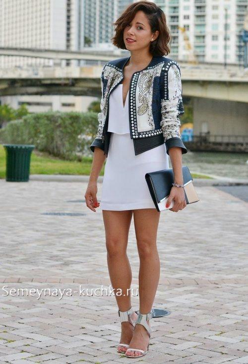 с чем сочетать белые юбки