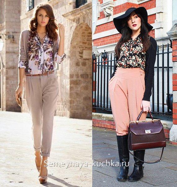 шелковые весенние брюки