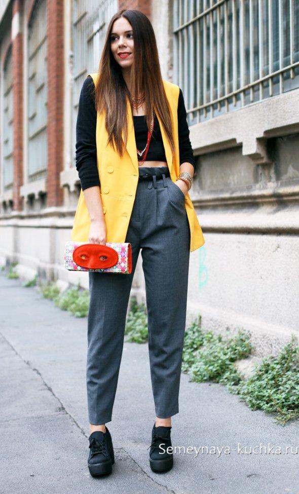 молодежные брюки бананы