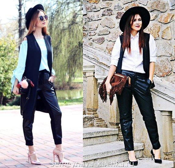 модные брюки чинос из атласа