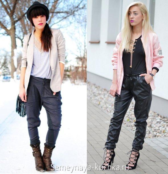 кожаные брюки чинос весна