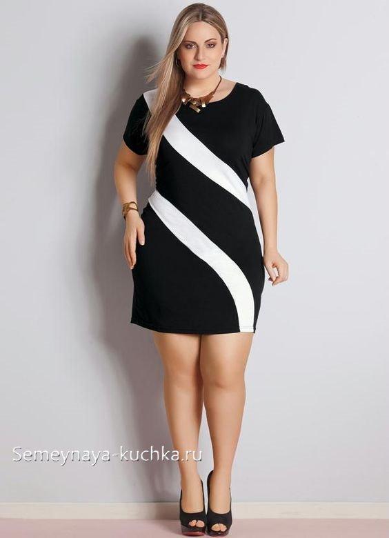 офисное платье для полных
