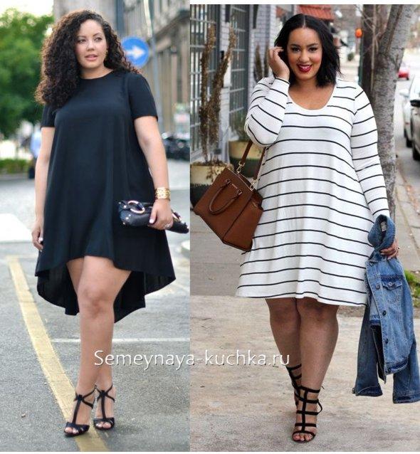 платья для полных женщин с животом