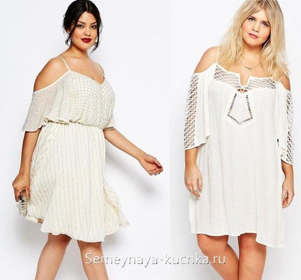 платье белое летнее на полную фигуру