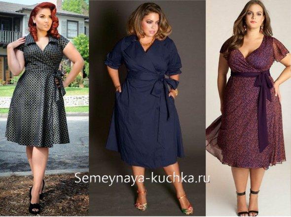летнее платье для полных