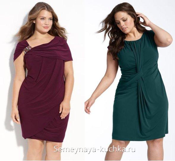 фасоны платьев для полных