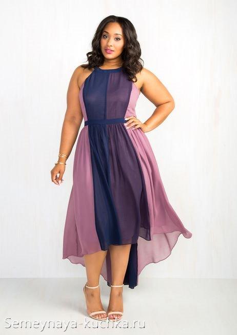 платье для полных женщин летнее