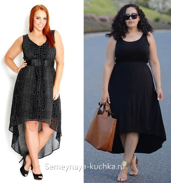 платье для полных на лето