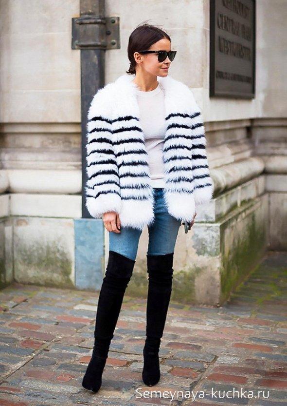 ботфорты чулки с джинсами