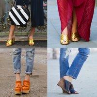 с чем носить туфли мюли