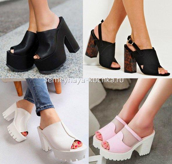 обувь с открытой пяткой с чем носить