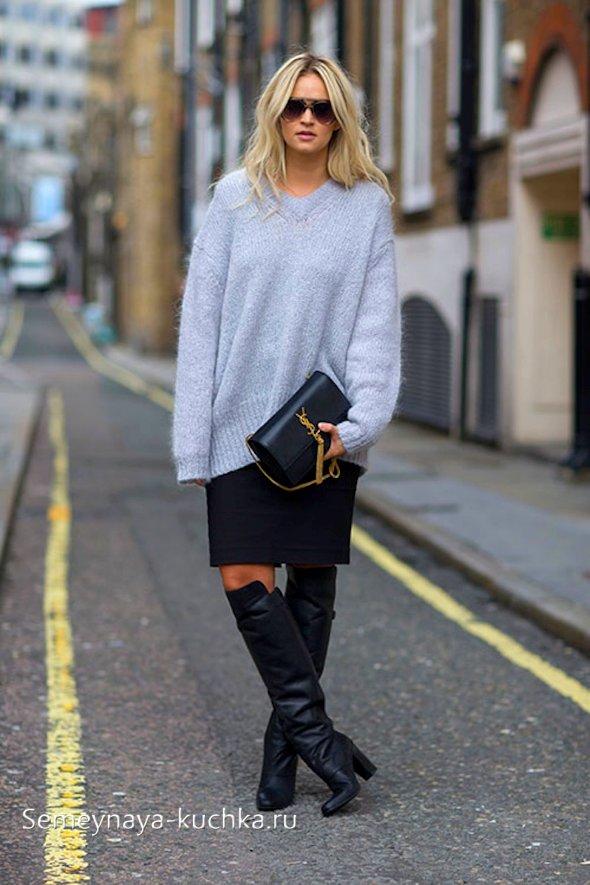 модные черные юбки
