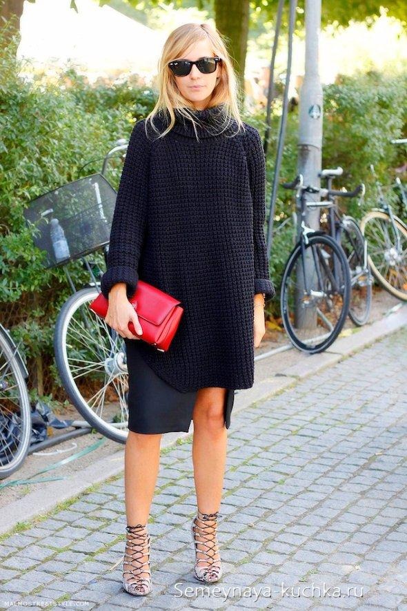 прямые черные юбки