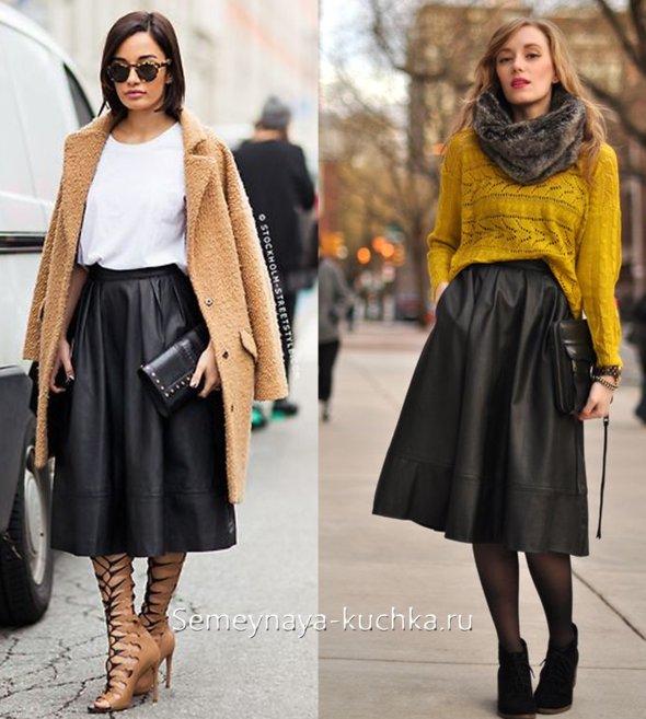 черная пышная юбка