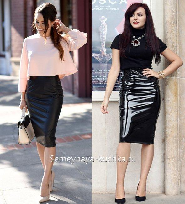черная юбка стрейч