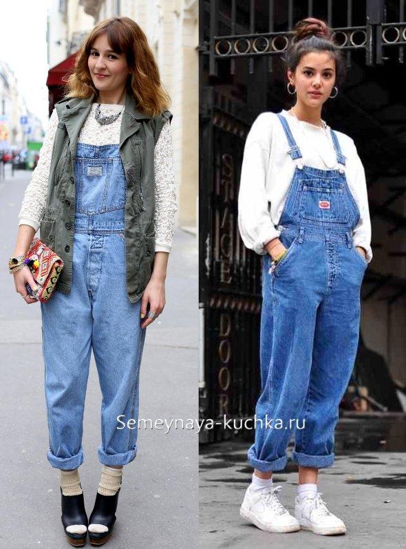 джинсовые комбинезоны свободного кроя