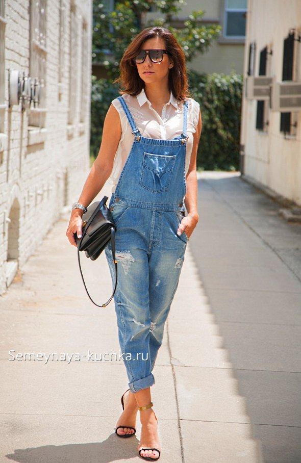 джинсовые комбинезоны-на лето