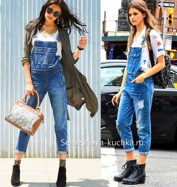 женские комбинезоны из джинсы на лето