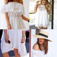 модные белые платья