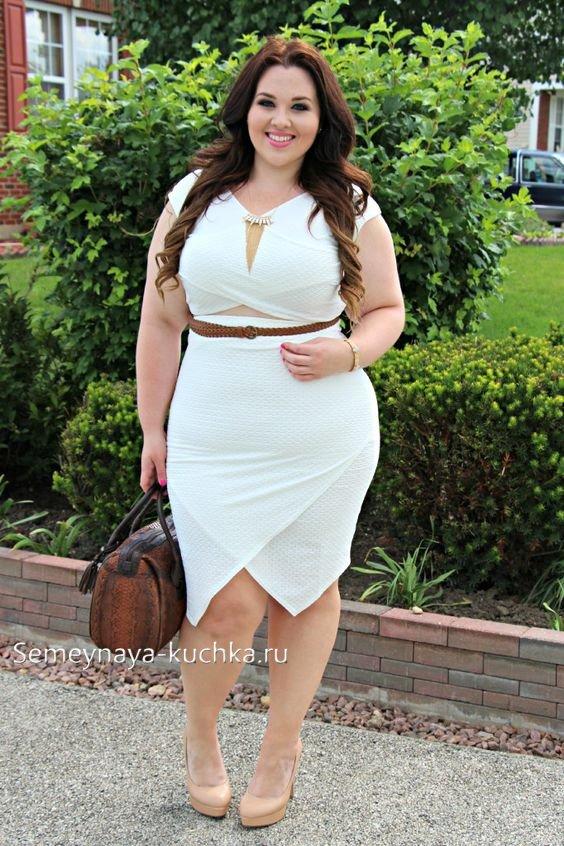 белое платье на полной женщине