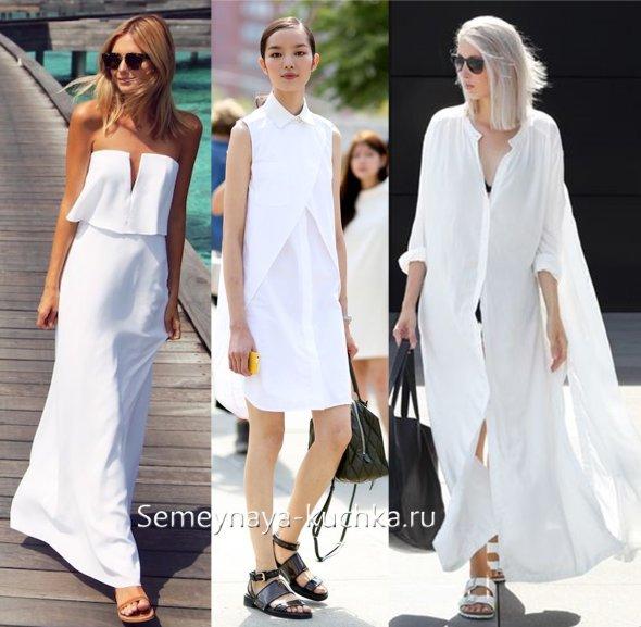 сандалии под белое платье