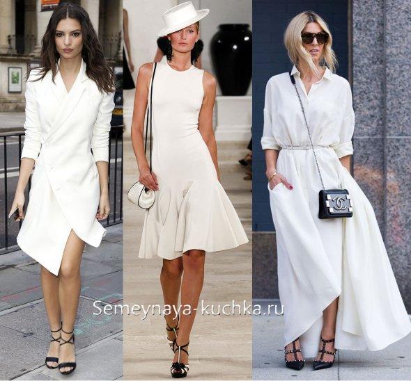 красивое белое платье на лето 2017