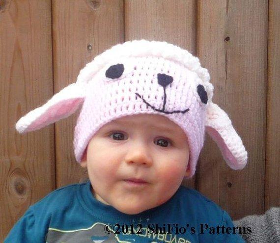 овечка крючком шапка