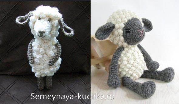 крючком овечку связать