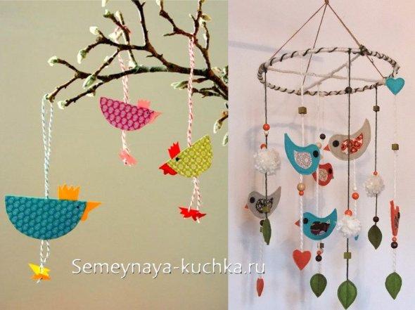 подвески мобиле птицы из бумаги