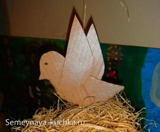 птица поделка детская