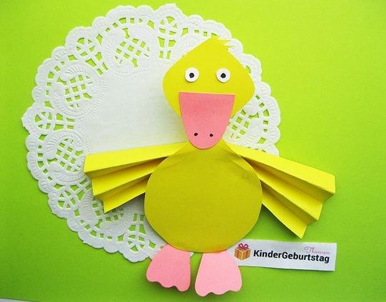 птица утенок поделка из бумаги