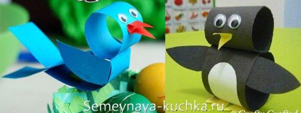 бумажные птицы поделки для детей