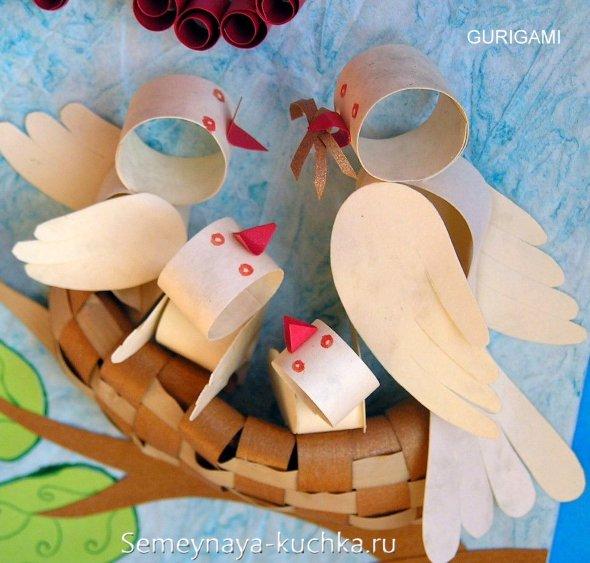 поделки для детей птицы