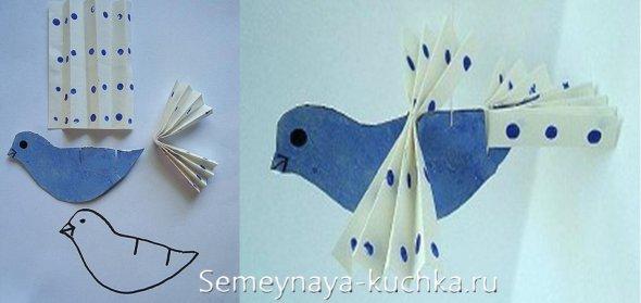 птицы из бумаги детские