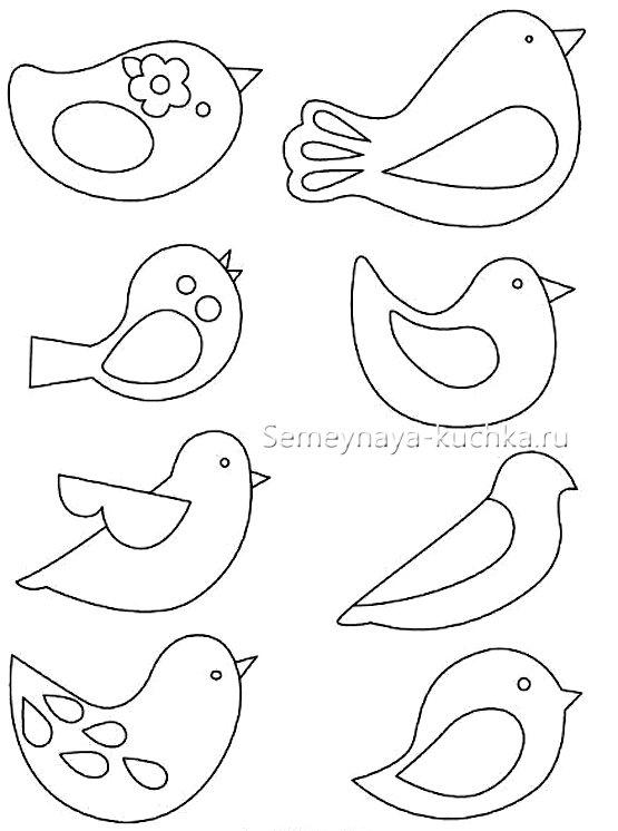 трафареты птицы поделки