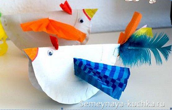 птицы поделки из картона