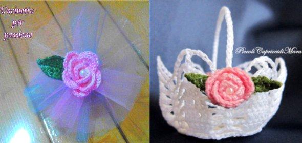 вязаные розы крючком