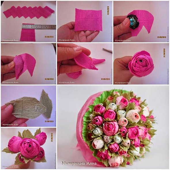розы из бумаги шаблон