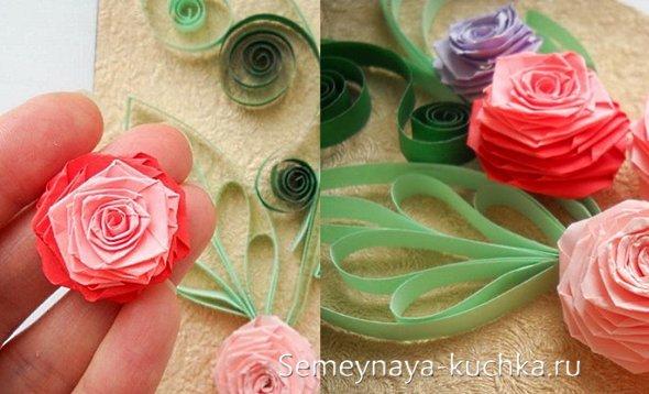 бумажная роза своими руками
