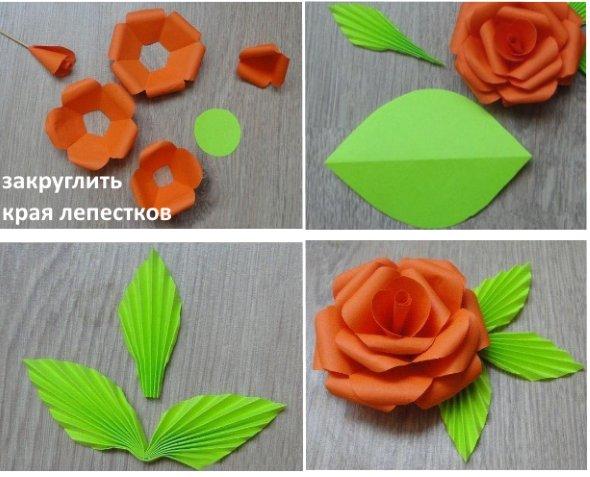 мастер-класс роза из бумаги