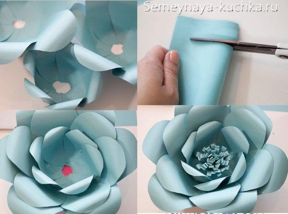 мастер-класс роза из бумаги большая