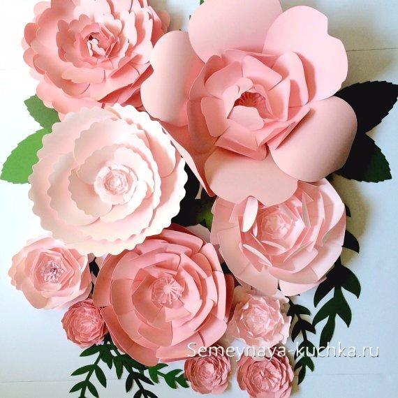 розы своими руками бумажные