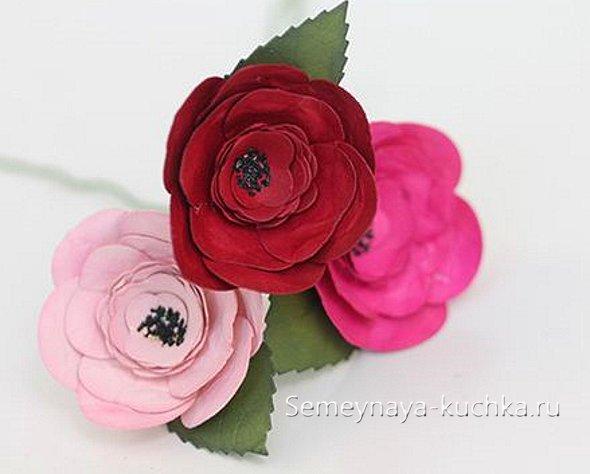 как делать розы из бумаги