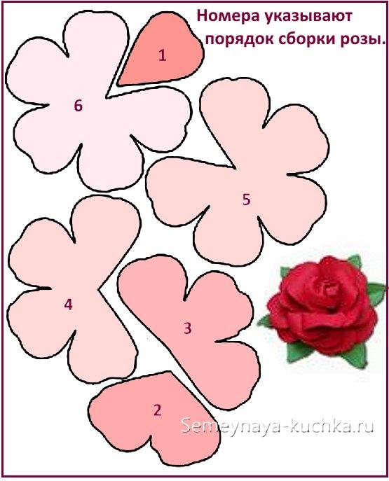 бумажные розы из бумаги схема шаблон