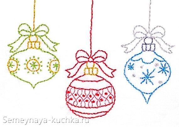 схема на новый год вышивка