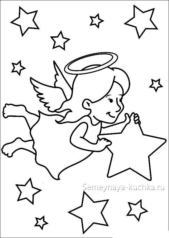 вышивка ангел на новый год