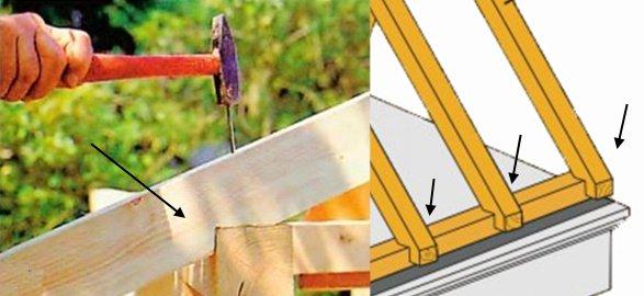 схема как сделать крышу на беседку на даче